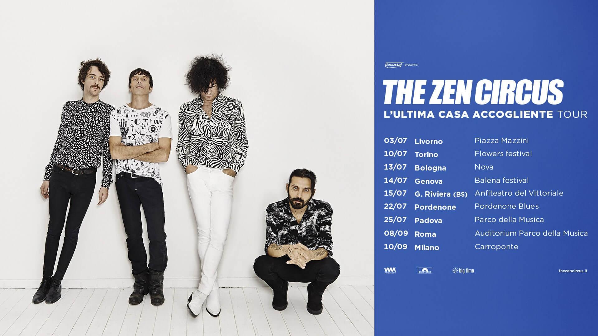 Concerti estate 2021: date live di The Zen Circus